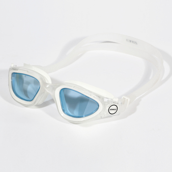 Vapour Goggles-Clear/White-Glasses: Tinted Blue