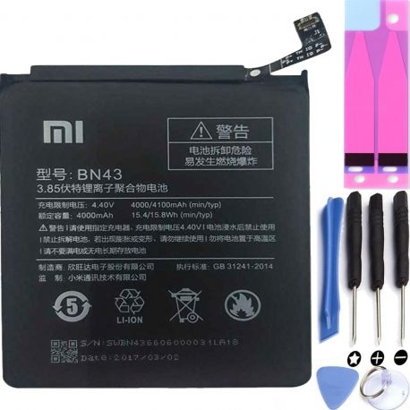 Battery For Xiaomi Redmi Note 4X , Part Number: BN43