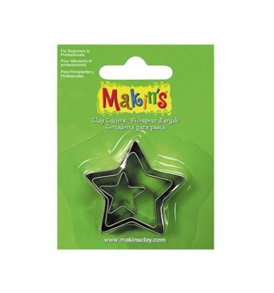 CUTTER MODELING PASTE STAR BLISTER 3 PIECES DIFFERENT SIZES