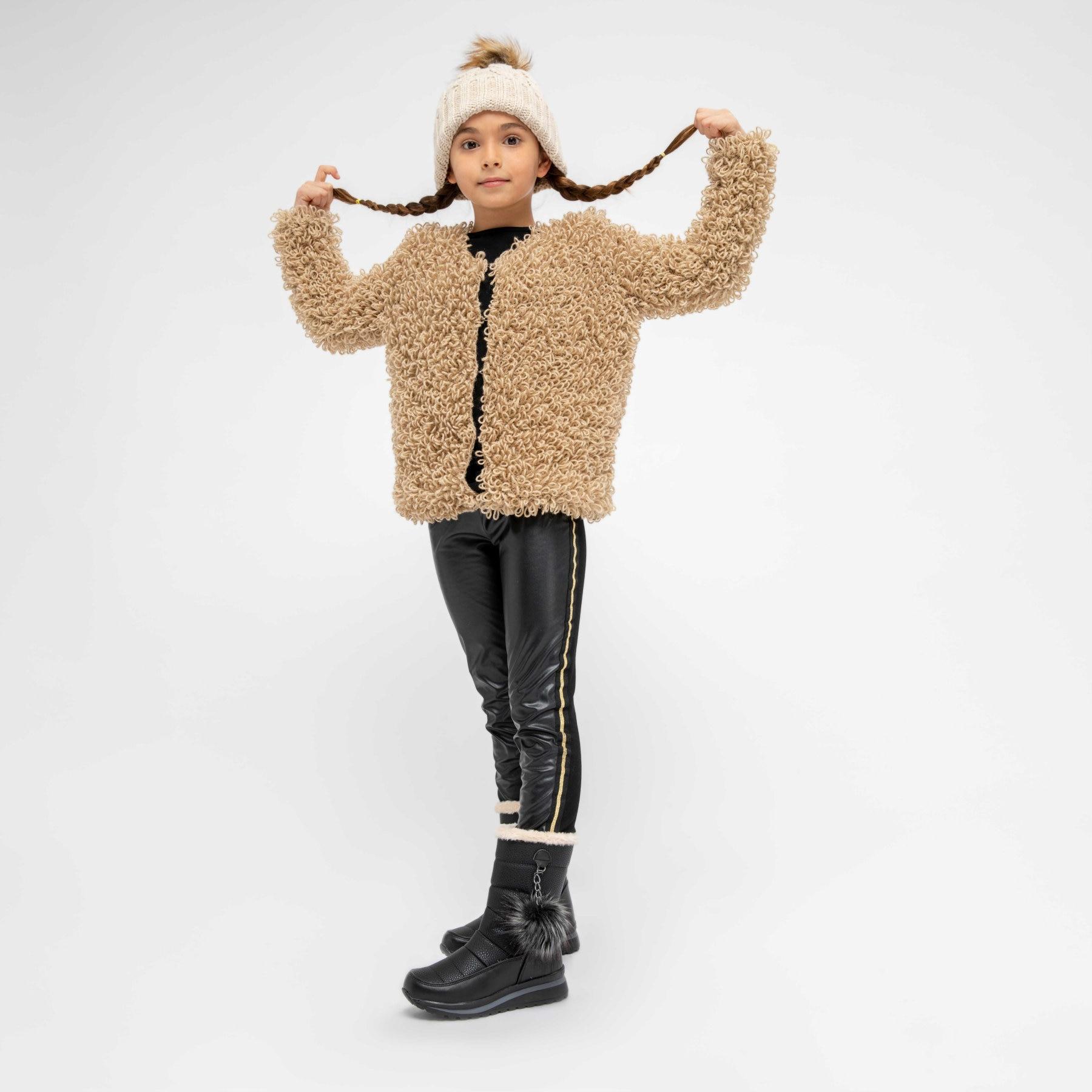 FLO 92.512022.F Black Female Child Boots Polaris