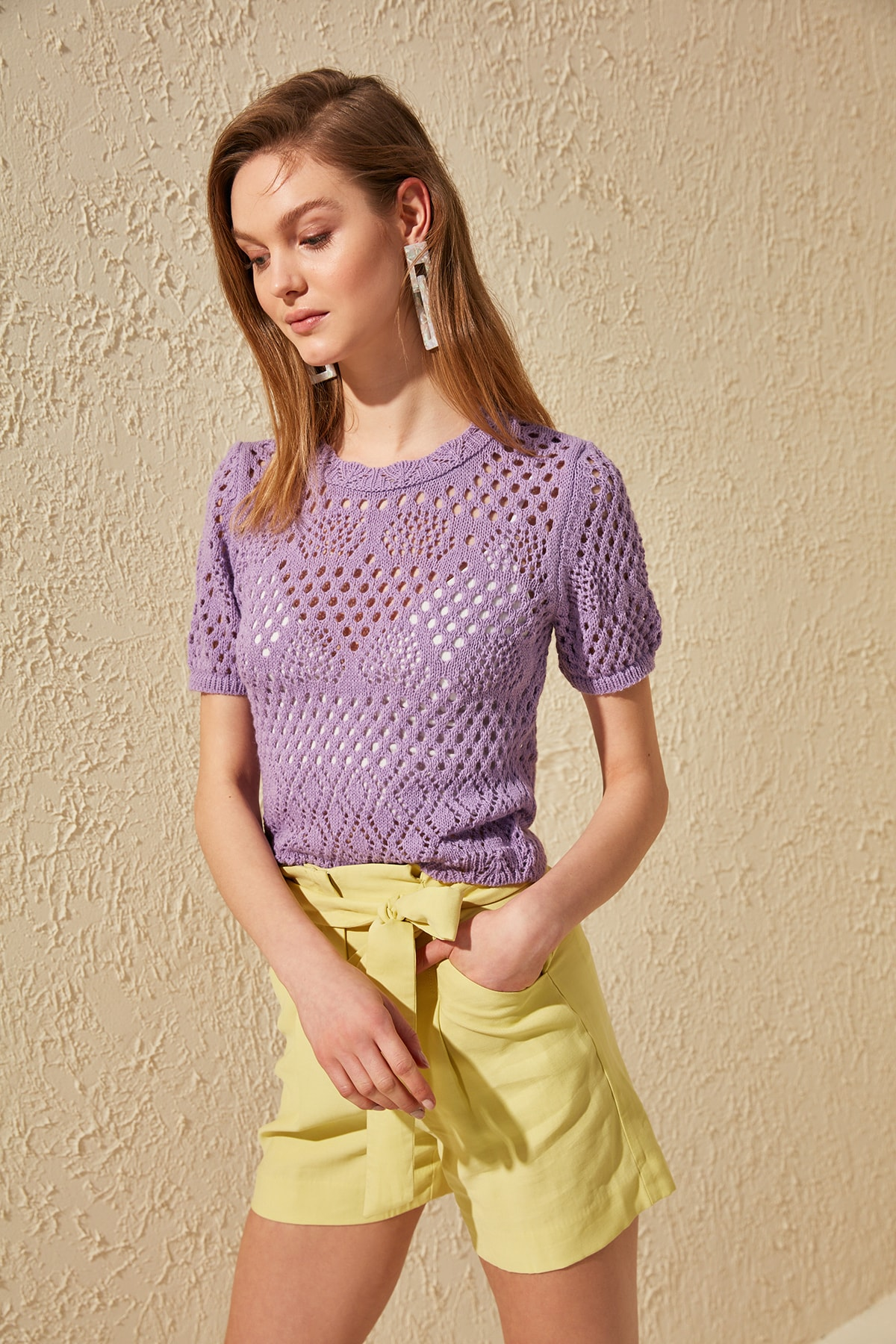 Trendyol Cellular Knitwear Sweater TWOSS20BZ0247