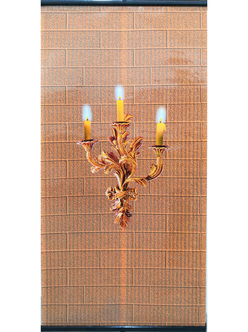 """Wall mounted film heater for home, living room, garden, kitchen, bedroom """"Indian Summer"""" candle"""