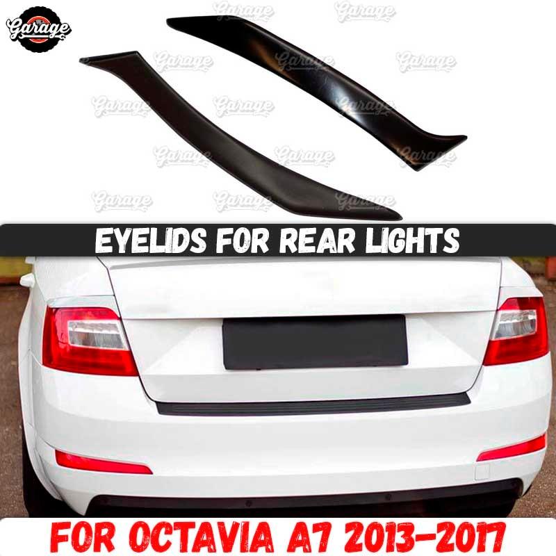 SKODA OCTAVIA MK3 Headlight Eyebrows ABS PLASTIC TUNING