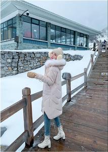 Image 5 - Abrigo de invierno ins super fire, ropa de invierno, novedad de 2019, chaqueta acolchada de algodón con cuello de pelo grande, estilo largo, versátil