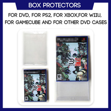 Box Protector Sleeve For DVD For PS2 For Xbox For Wii For WiiU For Gamecube Game Custom Made Clear Plastic Case