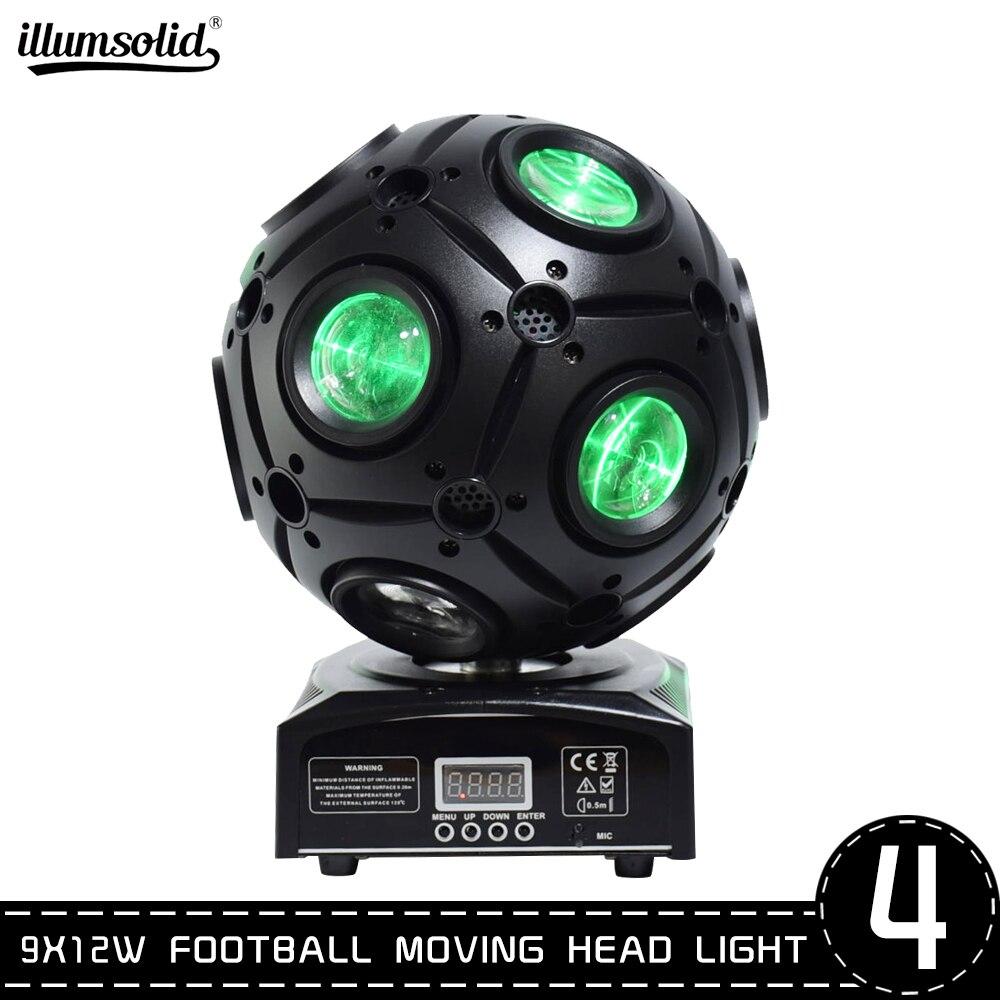 Beam Stage Lighting Effect Football Moving Head Light LED Infinite Rotation DJ Disco Party 4pcs/lot