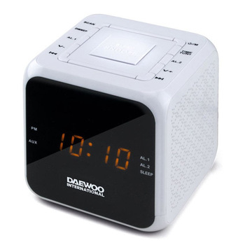 Clock-Radio Daewoo DCR-450 White