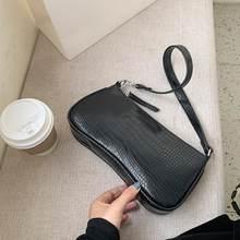 INS Offre Spéciale sacs à main Alligator modèle sacs à bandoulière pour femmes 2021 cuir sous les bras sacs Bolsa Mujer femme Baguette sac fourre-tout