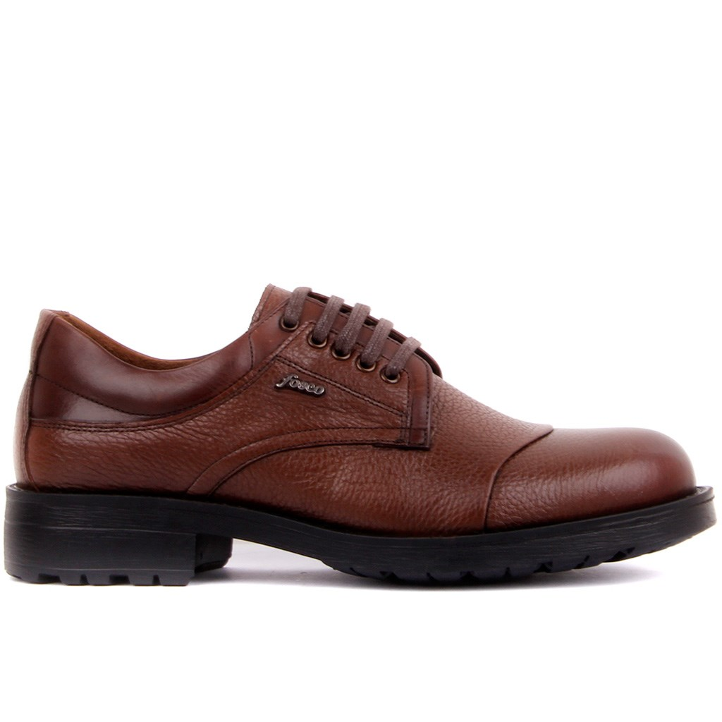 Fosco-Brown Leather Men's Casual Shoes