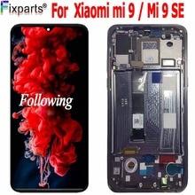 Nowy Amoled LCD dla Xiaomi Mi 9 wyświetlacz LCD ekran dotykowy Digitizer zgromadzenie części zamienne wyświetlacz Mi9 dla Xiaomi Mi 9 SE LCD