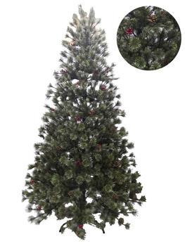 SZ Árbol de Navidad con Acebo/Piña Color Verde - Decoración Salón -...