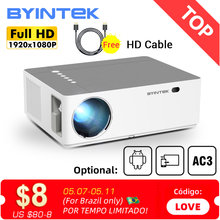 BYINTEK K20 Full HD 4K 3D 1920x1080p Android Wifi LED Video lAsEr Home Theater Projector Proyector Beamer for Smartphone