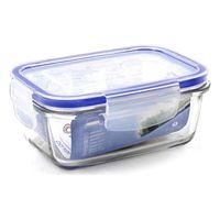 Caixa de almoço hermética borgonovo retangular transparente (14 5x10x6 cm)