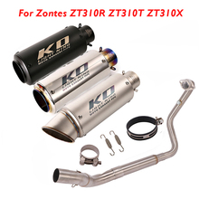 Connector Muffler-Pipe Escape Exhaust-System Zontes ZT310R Motorcycle Link Slip-On