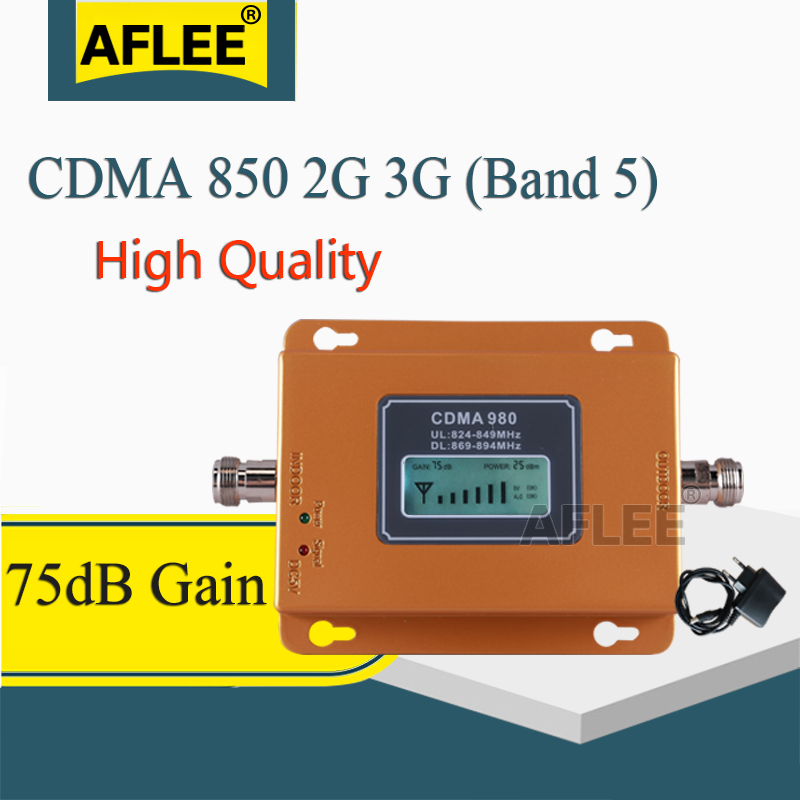 75dB CDMA 3g <font><b>Repeater</b></font> 850 MHz 2G 3G <font><b>850mhz</b></font> UMTS <font><b>GSM</b></font> CDMA Mobile Phone Signal <font><b>Repeater</b></font> Booster Cell Phone Signal CDMA Amplifier image