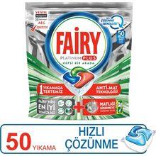 Fairy platinum plus 50 lava-louças detergente rápida dissolução da cápsula
