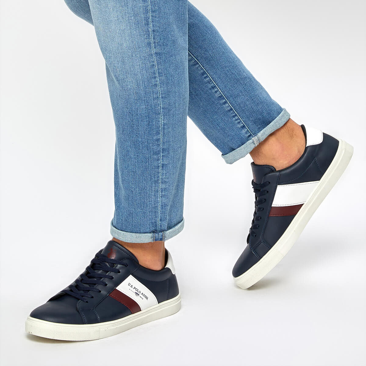 FLO ANTON WT 9PR Navy Blue Men 'S Sneaker Shoes U.S. POLO ASSN.