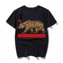 Пушистый медведь винтажная трехмерная футболка Мужская с принтом