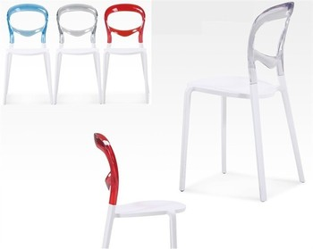 Chair FESTIVAL white polypropylene backed polycarbonate network