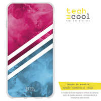 FunnyTech®Stand case, Cover for LG G5 L Texture pink stripe