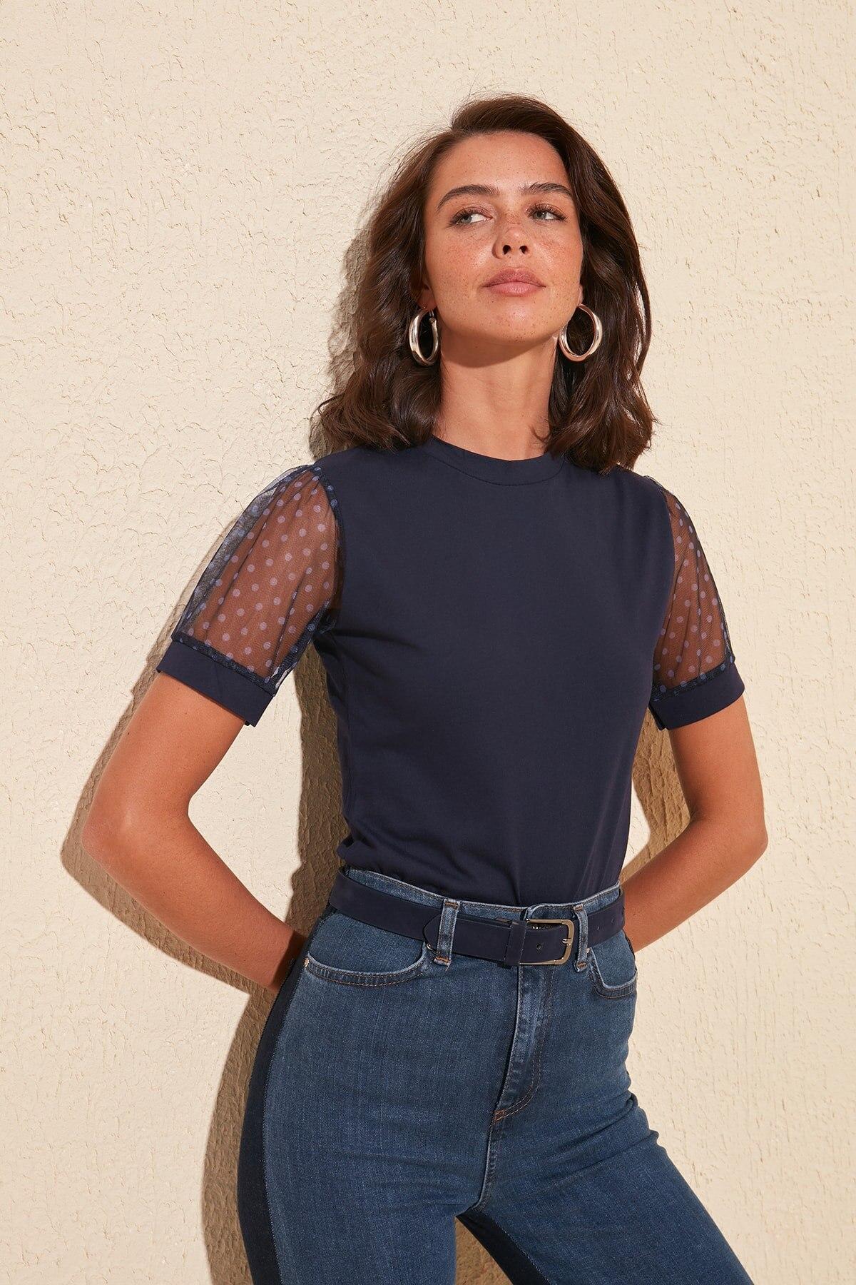 Trendyol Handles Gauze Knitted Blouse TWOSS20BZ0375