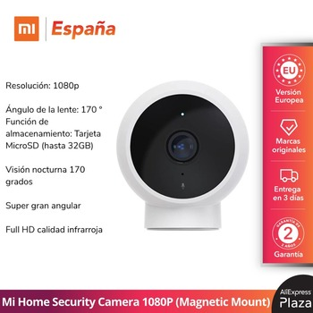 Mi Home Security Camera 1080P Smart (Montaje magnético) 170° Wi-Fi 10m Micrófono...