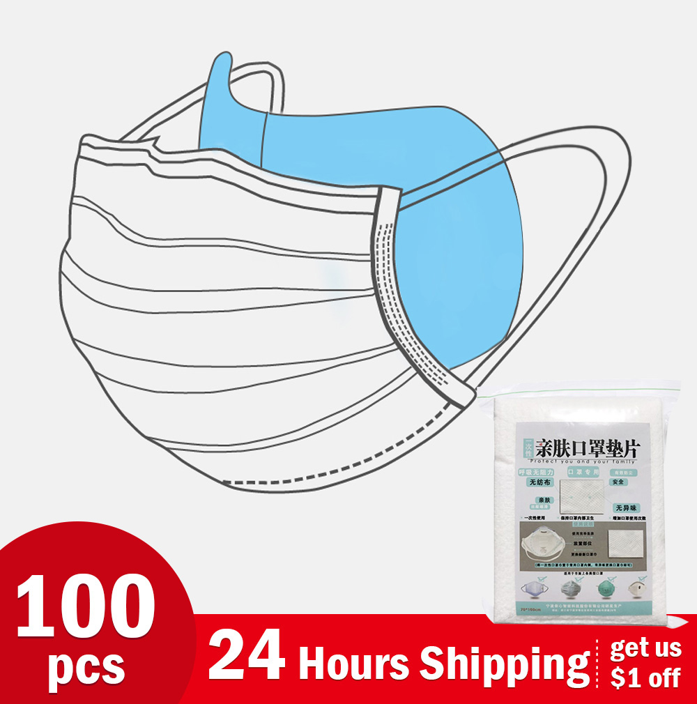100pc 3Layer Disposable Masks Gasket Safe Anti Dust Breathable Mouth Face Mask Replacement Pad Comfortable Filter Protection Pad