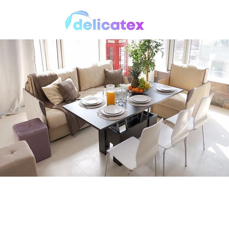 Mesa-Seattle transformador Dlicatex leche roble comedor café para casa apartamento jardín
