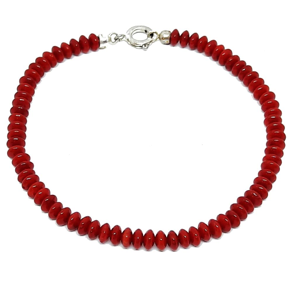 El Coral The Coral chain bracelet Coral Red Lentils Form and Close Plated ballantyne r the coral island