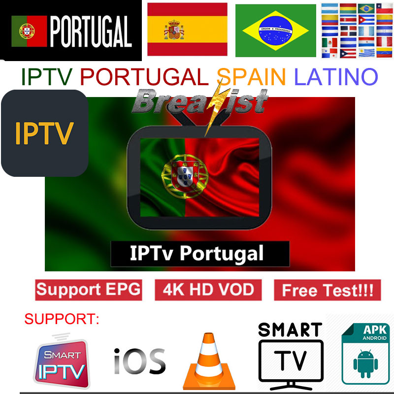 Breakist IPTV Portugal Spain Brazil Latino 1 Year M3u Subscriptions Full HD Eleven Sports For Android Smart TV Box Engima2 MAC