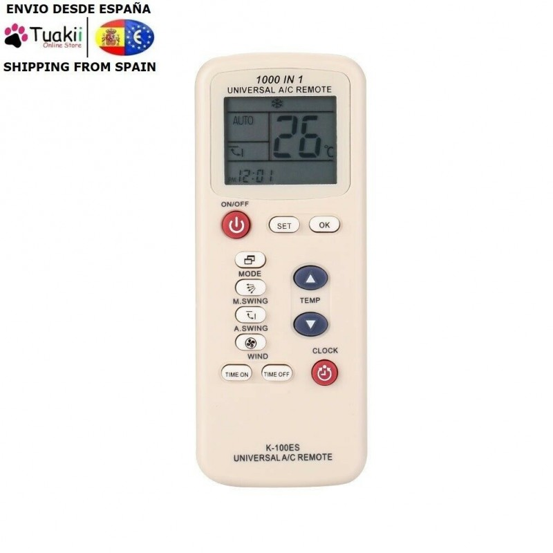 Universal Remote CHUNGHOP K-100ES For Air Conditioners