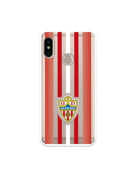 Official UD Almería clear red and white stripes case for Xiaomi Mi 6 Pro
