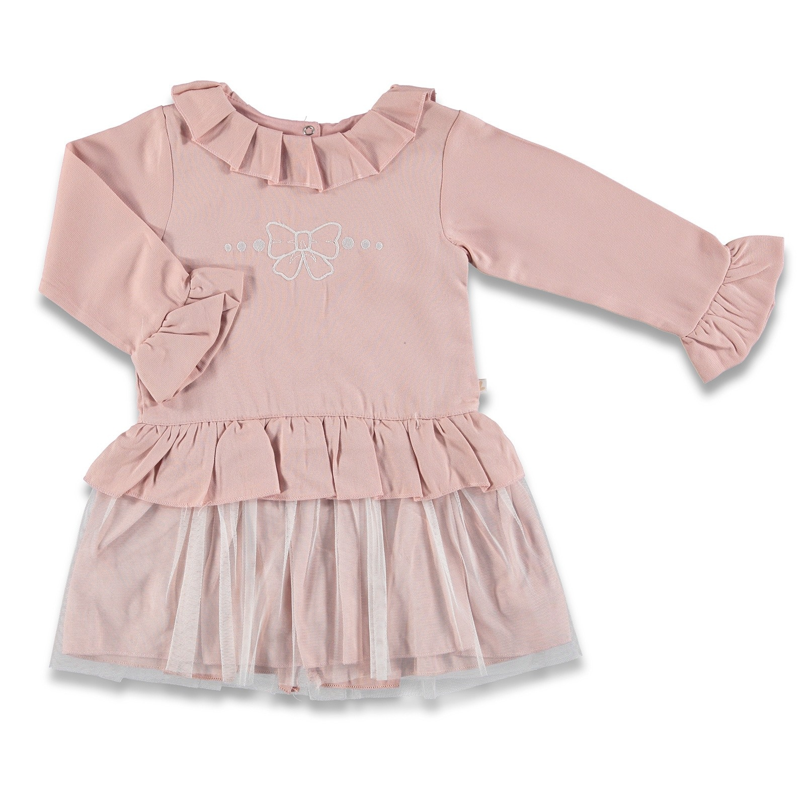 Ebebek BabyZ Tulle Detail Embroidered Baby Girl Dress