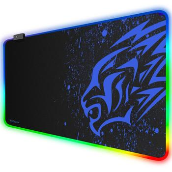 double side portable large mouse pad gamer pu leather mouse pad gaming office desk mat computer mousepad keyboard table cover EXCO RGB Mouse Pad Gamer Gaming Large Mousepad Computer RGB Mouse Mat Gamer Keyboard Mause Carpet PC Desk Play Mat Big Mouse Pad