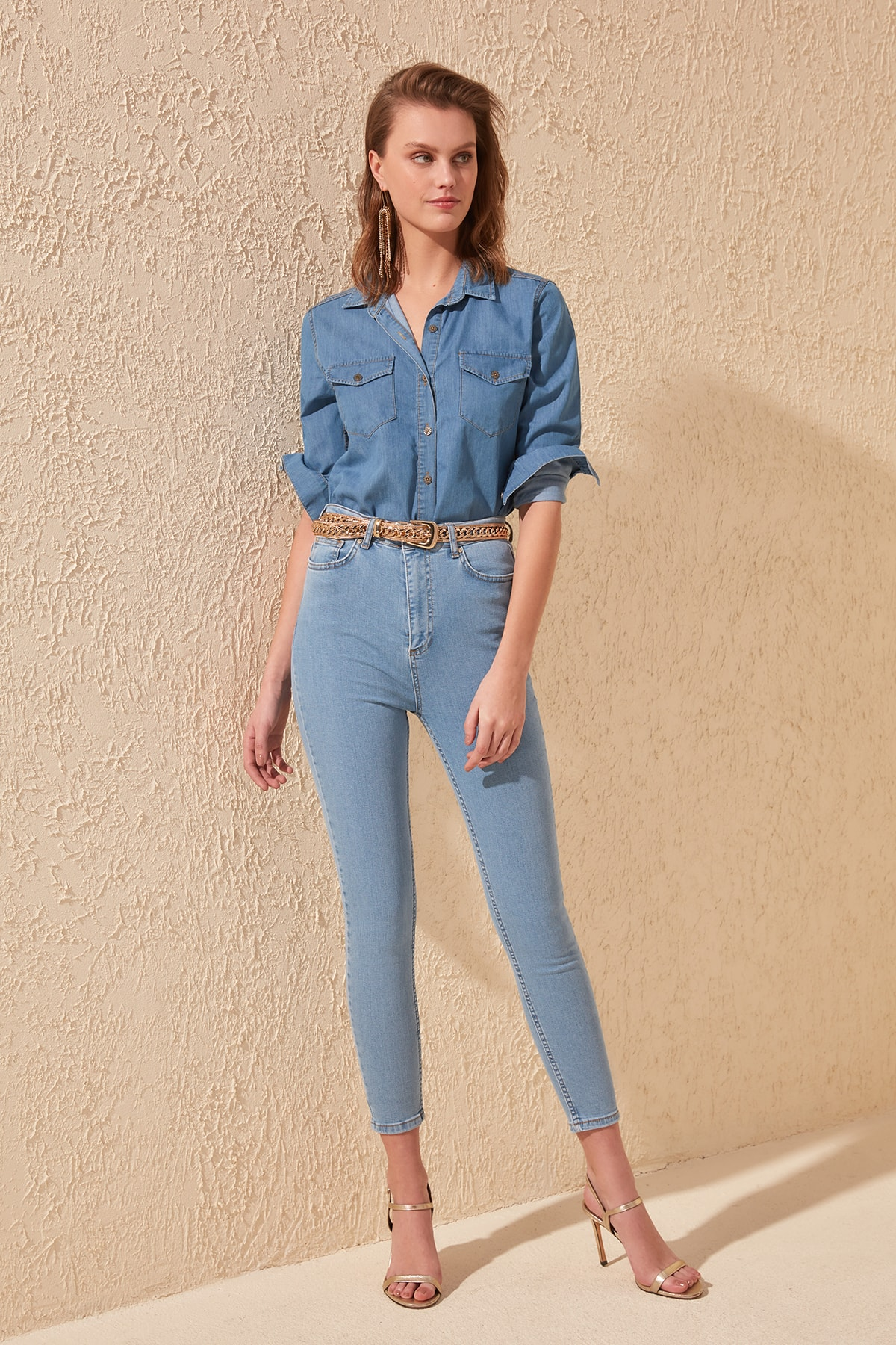 Trendyol High Waist Skinny Jeans TWOSS20JE0297