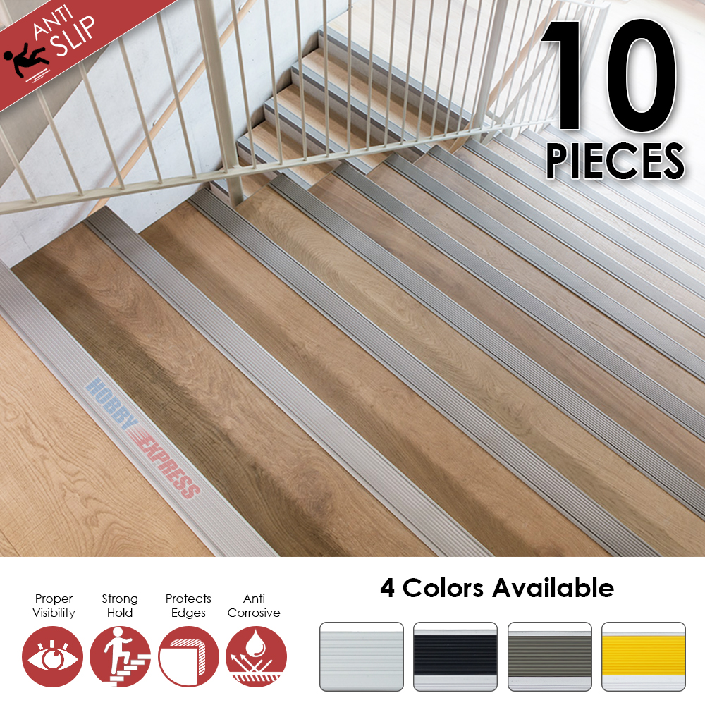 Arrowzoom Aluminium Stair Nosing Non-Slip Anodized Step Edging Trim 19.7 X 2 X 0.8