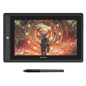 Графический планшет GAOMON PD156PRO, дисплей для рисования, 15,6 дюйма, полностью ламинированный ips HD экран с 8192 уровнями, ручка без батареи