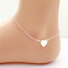 Модная одежда с сердечками Для женщин браслеты на босую ногу сандалии, вязанные крючком бижутерия для ног Браслеты Сандалеты с перепонкой на лодыжке