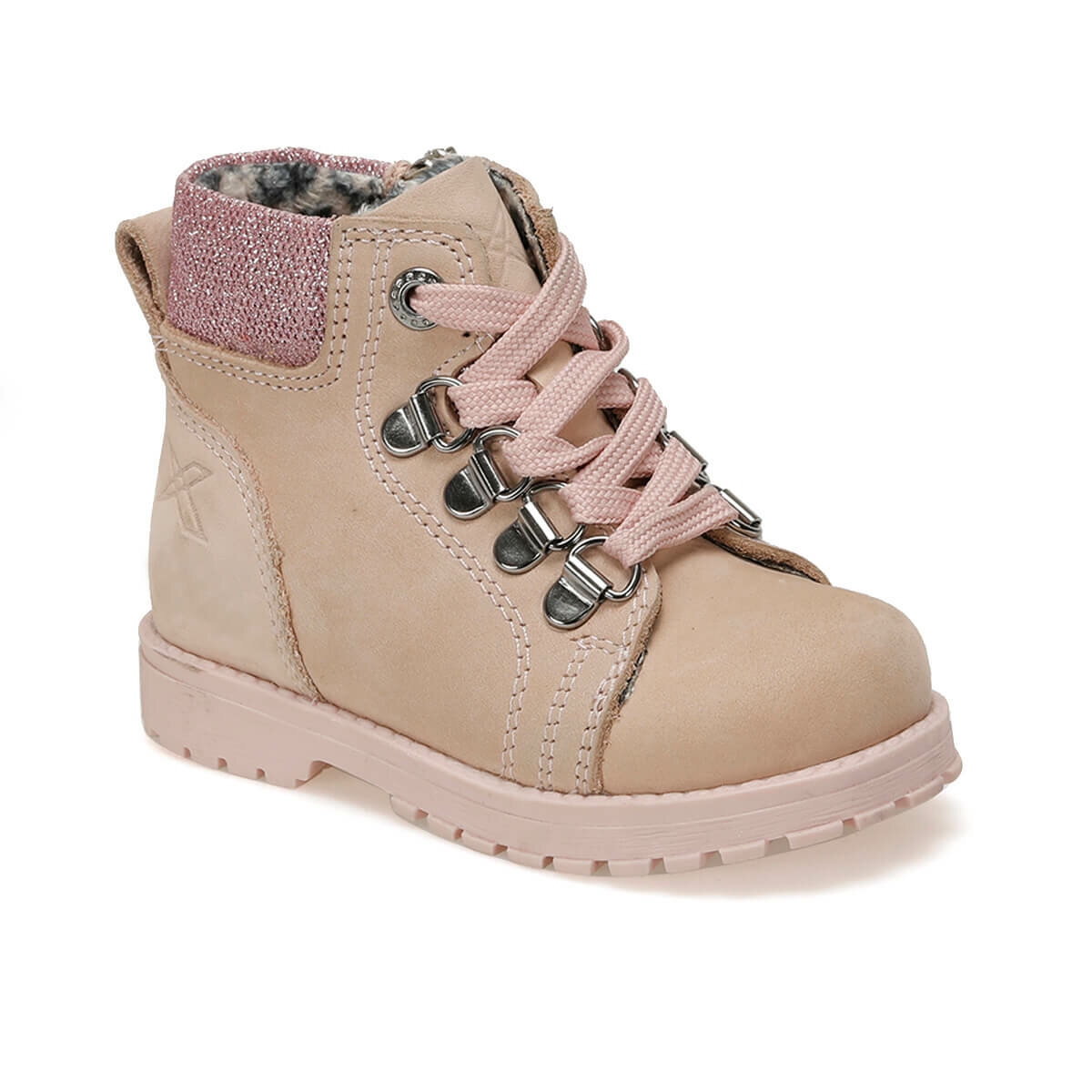 FLO SARDONE LEATHER 9PR Pink Female Child Boots KINETIX
