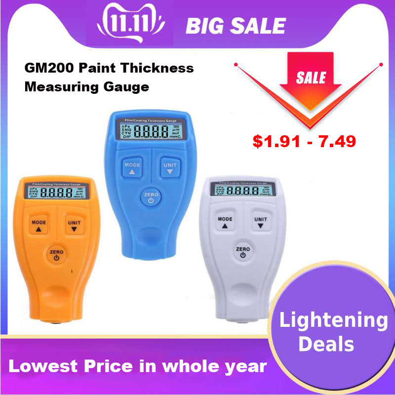 GM200 Gauge Paint Thickness Measuring Instrument Digital Paint Coating Thickness Car Painting Meter Home Decor Tool