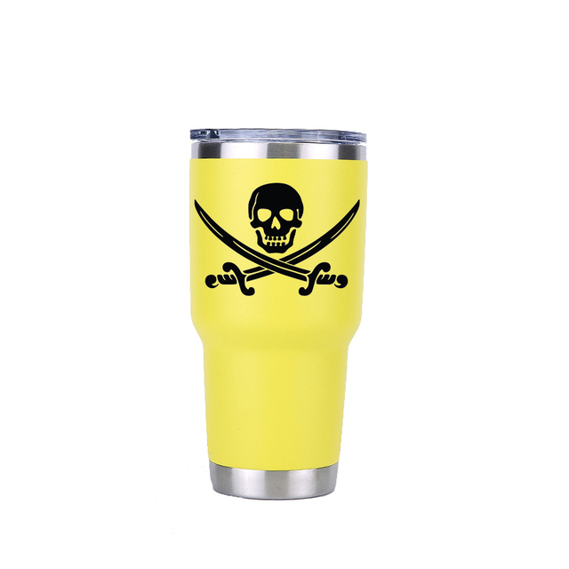 30oz STAINLESS STEEL PIRATE SKULL TUMBLER