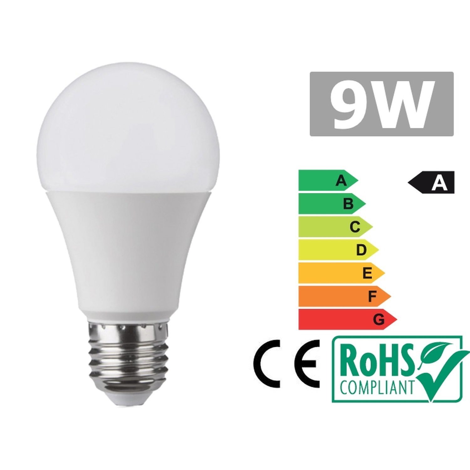 Led bulb E27 9W 3300K warm white