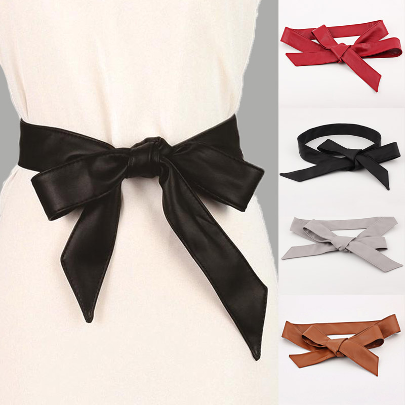 Fashion PU Leather Belts For Women Soft Dress Belts Wide Corset Strap Female Belt Girls