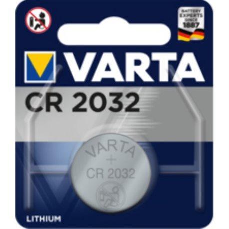 BUTTON BATTERY CR2032 3V LITHIUM VARTA