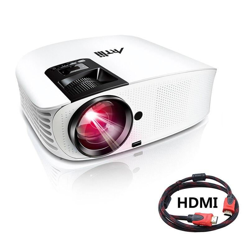 """Artlii projecteur de film 3500 Lux Full HD 1080P projecteur de Support, projecteur LED avec stéréo HiFi, projecteur Home cinéma avec 200"""""""
