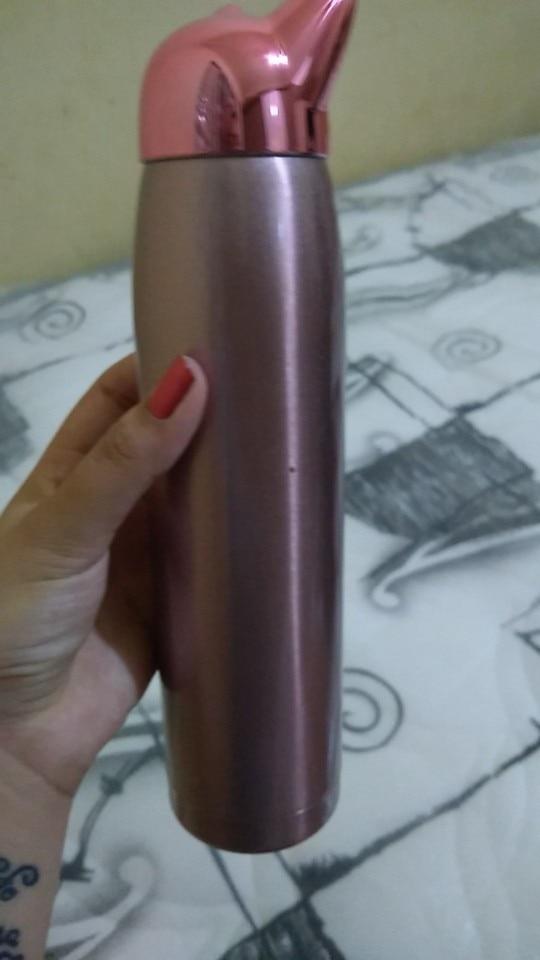 320ml/11oz Double Wall Thermos Water Bottle Stainless Steel Vacuum Flasks Cute Cat Fox Ear Thermal Coffee Tea Milk Travel Mug|Water Bottles| |  - AliExpress