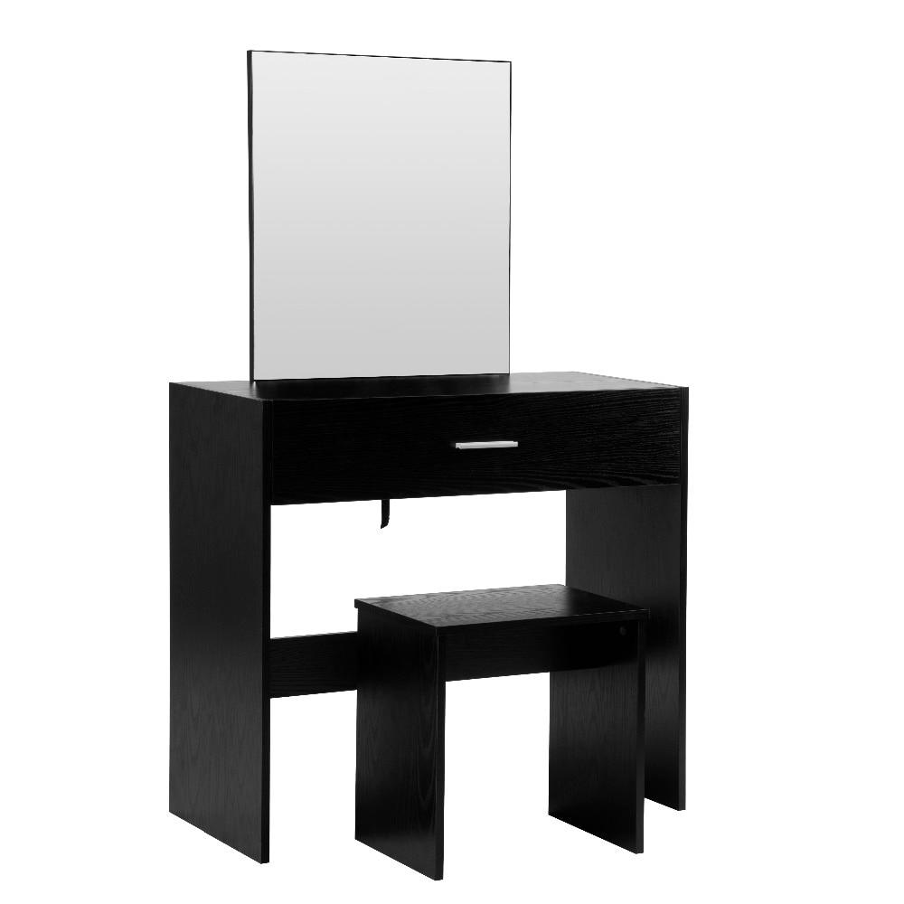 1 комплект белый туалетный столик с большим макияж зеркало Спальня