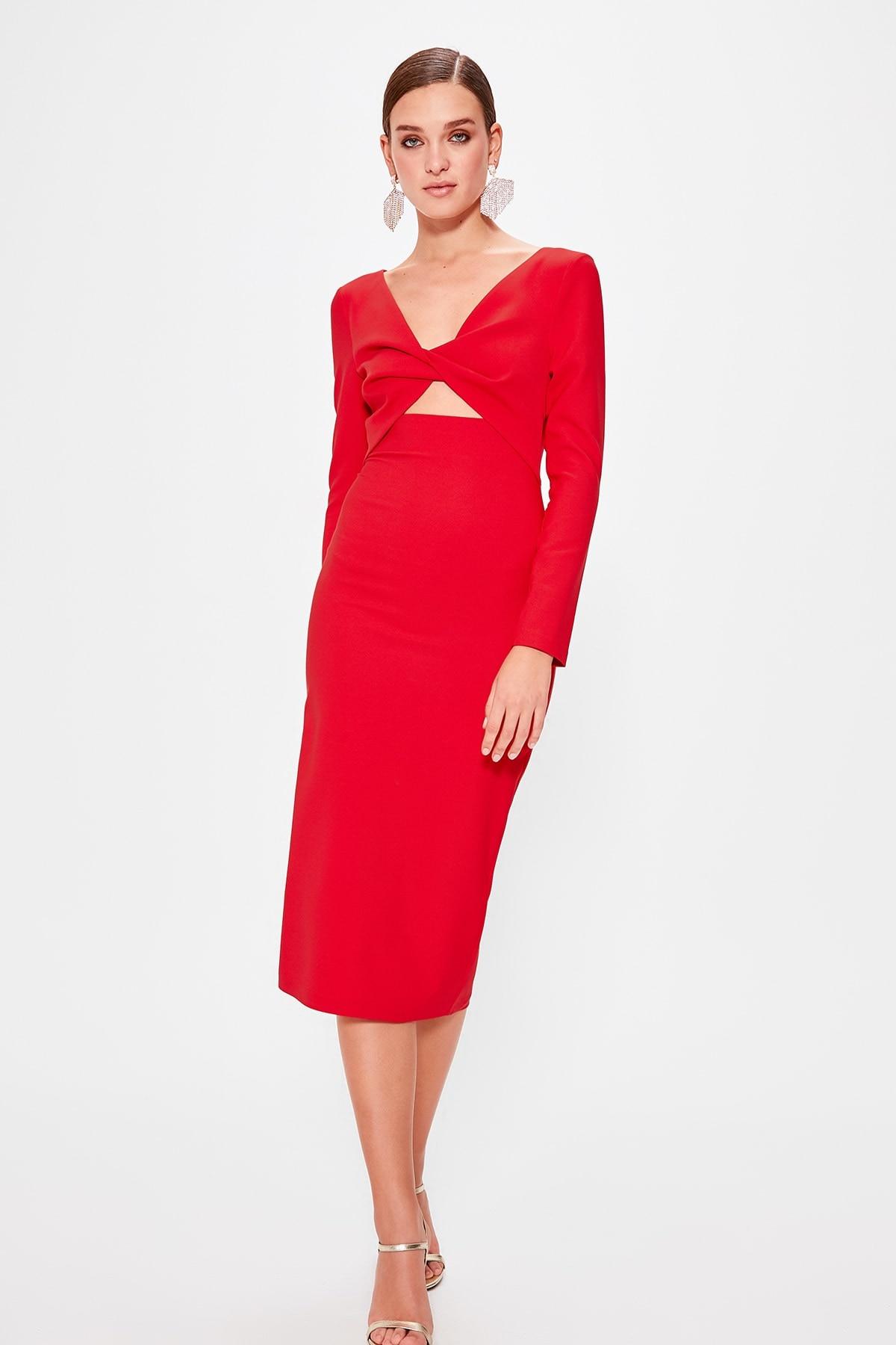 Trendyol Collar Detail Dress TPRAW20EL0623