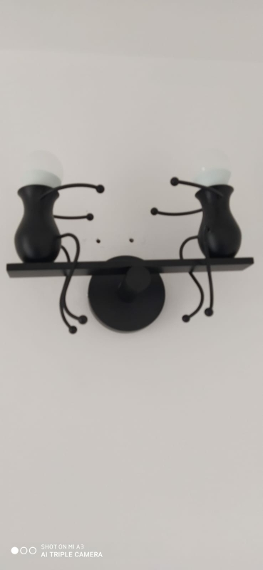 Nordic Iron Dwarf Doll Bedside Wall Lamp photo review