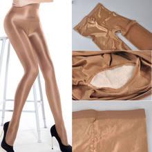 70d mulher plus size estiramento collants sexy óleo brilhante glitter meia-calça fios brilhante marrom meias dança fitness opaca mangueira